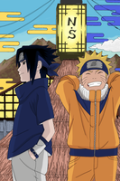 Sasuke and Naruto by pnkuzmk