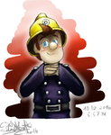 that welsh fireman by CJSilverBeatle