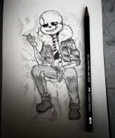 Gaster!Sans sketch by Nasuki100