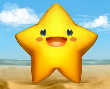 Star on the Beach by ASagelyKitchenSponge