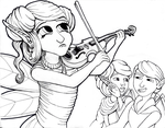 Musician for Coloring Book by grimdrifter