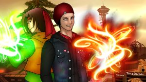 [Commission] Delsin e Otakuman by mghyuga