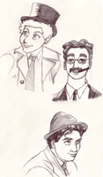 Marx Brothers Sketches by Takineko
