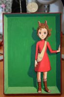 Arrietty Standing in a Green Box by skimlines