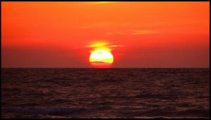 Sunset over Paradise III by 1000--Words