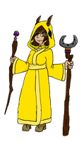 Pretty Yellow Mage by BlakcStarko