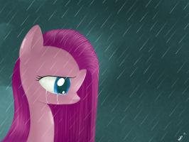 Pinkamena crying by McSadat