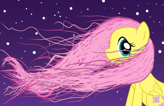 Fluttershy in Motion by Moabite