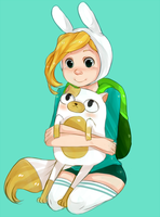 Fionna and Cake by Nani-Mi