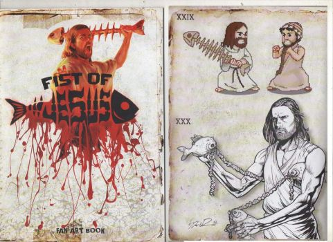 Fist of jesus. art book. by IMPOSI