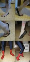 spiderman shoes: Glue test and execution by Hito-san