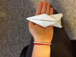 Paper plane I made in class by Northwestern-Viola13