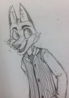 Fox in a vest by FoxTone