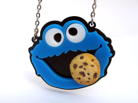 Cookie Monster necklace by milkool