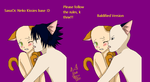 SasuOc Neko Kissies :BASE: by brat-the-twitchy-one
