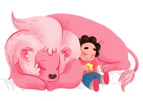 Steven and Lion by PetiteLaSouris