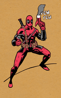 DEADPOOL PEW COLOUR by future-parker