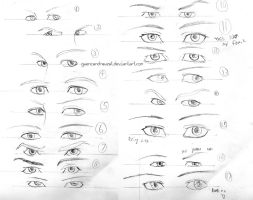 Male Eye Practice by GwenCanDrawZat