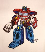 Toon Style Classics Optimus by hiredhand