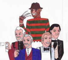 Faces of Robert Englund by Dragon-hobbit101