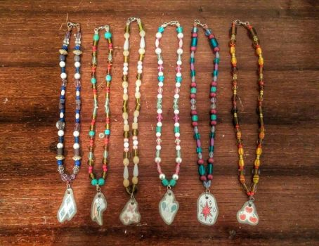 Elements Of Harmony Beaded Necklaces by LyraAlluse