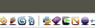 RocketDock Glossy Icons by magcius