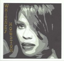 Whitney Houston 15x15cm by agnesw62