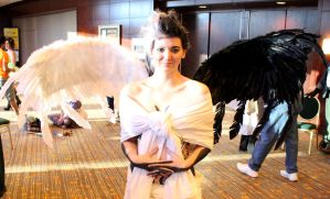 Good and Evil Angel by checkingthecheese
