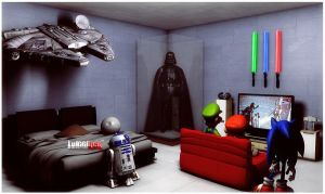 Star Wars Bedroom by luiggi26