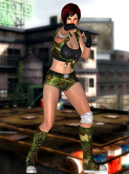 Mila(Military Fighter) Dead or Alive 5 Last Round by xXKammyXx