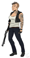 L4D: Francis, gender-swapped by rabbitcourage