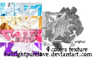 pack 4 colors texture by twilightpurelove