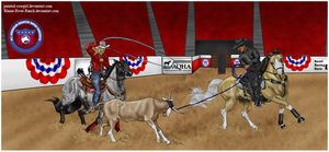 Spanky Peek - Congress Team Roping by painted-cowgirl