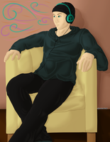 Lineless 100th Watcher Corey for ShyIsRandom by AJBurnsArt