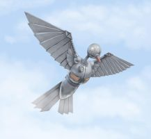 Robot Pigeon by tobba