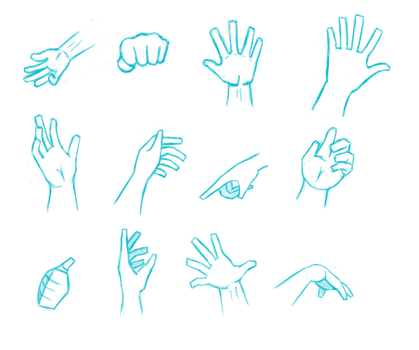 Hand Study 1 by deomacius