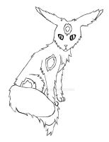 Umbreon Wirehair by Bwabbit
