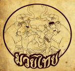 Muay Thai Institute Mural by theDOC30427