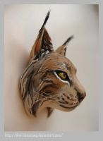 Lynx head by thai-binturong