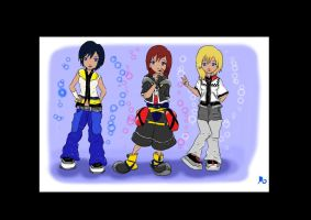 Keyblade Girls by MosstarKitteh