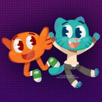 Darwin and Gumball by Miss-Glitter