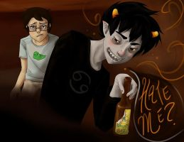 At the Bar with Karkat 4 by LargM