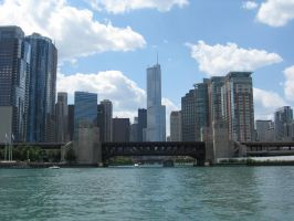 Chicago Skyline 2 by lee-mare