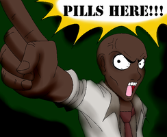 Pills Here! (Colored) by Nylten