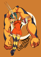 SkullGirls - CEREBELLA by ButteryFingers