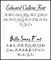 Fonts used in Twilight by EsmeCullen