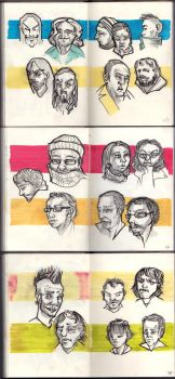 5 Minute Tram Sketches by RedPaints