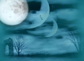 BG Moon - Gothic Landscape by Ivette-Stock