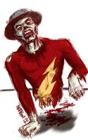 Zombie Flash Jay Garrick by mothbot