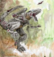 Watercolor Grimlock by BayushiJackal